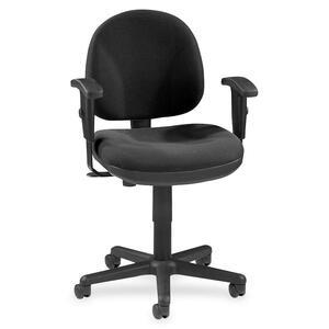 Lorell Millenia Pneumatic Adjustable Task Chair - Black Seat - 24 Seat Width X 24 Seat Depth - 24 Width X 24 Depth X 38 Height