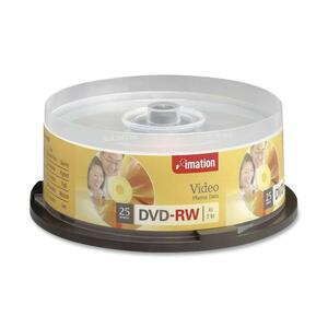 Imation DVD Rewritable Media - DVD-RW - 4x - 4.70 GB - 25 Pack Spindle IMN17346