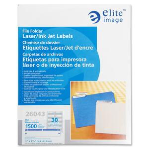 Elite Image Permanent Laser/Inkjet Filing Label ELI26043