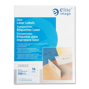 Elite Image Clear Address Laser Label ELI26023