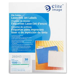 Elite Image Permanent Laser/Inkjet Filing Label ELI26045