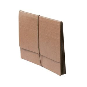 "SJ Paper Full Height Expanding Wallet - Letter - 8.5"" x 11"" - 4"" Expansion - 1 Each - 14pt. - Redrope"