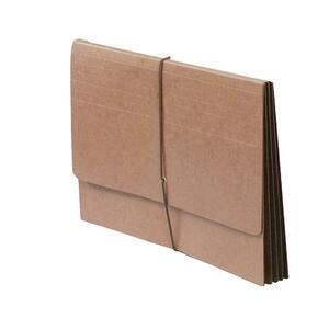 "SJ Paper Full Height Expanding Wallet - Legal - 8.5"" x 14"" - 6"" Expansion - 1 Each - 14pt. - Redrope"