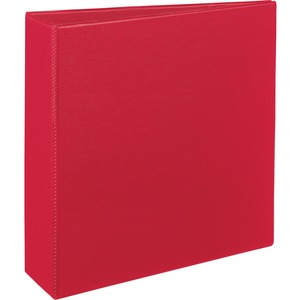 "Avery Durable Reference Binder - Letter - 8.5"" x 11"" - 460 Sheet x 3"" Capacity - 1 Each - Red, Black"