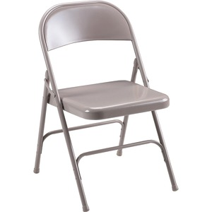 "Lorell Steel Folding Chair - Steel Beige Frame19.38"" x 18.25"" x 29.62"" - Steel Beige Seat"