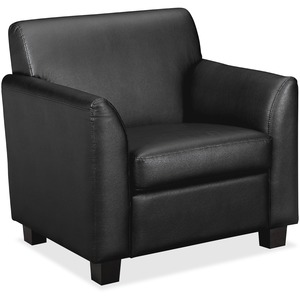 "Basyx VL871 Leather Chair - Plywood Frame33"" x 29"" x 32"" - Leather Black Seat"