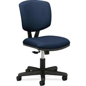 "HON Volt 5703 Multi-task Chair - Black Frame26"" x 19.25"" x 40"" - Polyester Blue Seat"