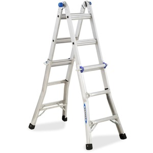 "Werner Aluminum Telescoping Ladder with ""J"" Lock WERMT13"
