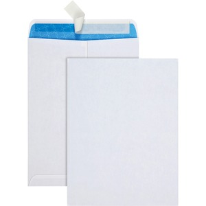 "Quality Park Antimicrobial Catalog Envelopes - #10 1/2 (9"" x 12"") - 28lb - Wove - 100 / Box - White"