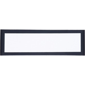 "TATCO Magnetic Label Holder - 1.25"" x 4.37"" - Vinyl - 10 / Pack - Black, Clear"