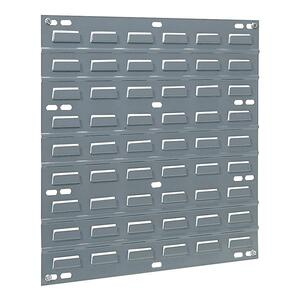 "Akro-Mils Wall Mountable Louvered Panel - 18"" Width x 1"" Depth x 19"" Height - Gray"