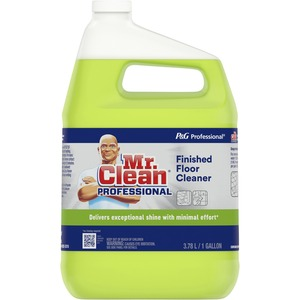 P&G Mr. Clean Floor Cleaner - Liquid Solution - 1gal - Yellow