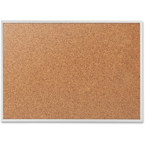 Acco Brands Corporation Quartet® Classic Cork Bulletin Board - 24 Height X 36 Width - Brown Natural Cork Surface - Silver Aluminum Frame - 1 Each