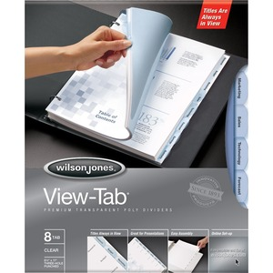 Wilson Jones View-Tab Transparent Divider WLJ55068