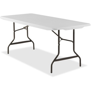 "Lorell Ultra Light Banquet Table - Rectangle - 30"" x 72"" x 29"" - Steel - Platinum"