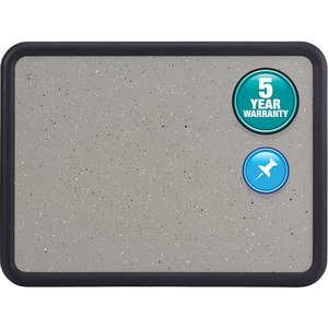 Quartet Contour Contoured Granite Tackboard - 3ft x 4ft - Foam Board Surface - Gray