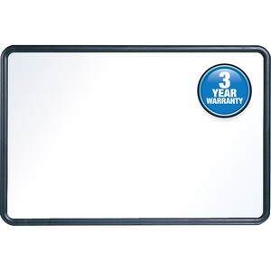 Acco Brands Corporation Quartet® Contour Whiteboard, 4 X 3, Black Frame - 48 (4 Ft) Width X 36 (3 Ft) Height - White Melamine Surface - Black Plastic Frame - Rectangle - Horizontal/vertical - 1 / Each