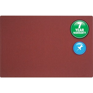 Quartet Oval Office Frameless Fabric Tack Bulletin Board - 4ft x 3ft - Fabric Surface - Burgundy