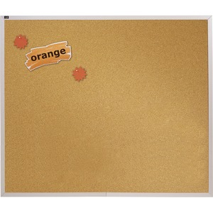 Quartet Aluminum Frame Natural Cork Board - 4ft x 4ft - Cork Surface - Aluminum Frame - Aluminum