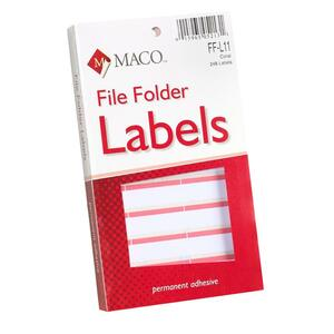 Maco FF-L11 Color Coded Type/Handwrite File Folder Labels MACFFL11