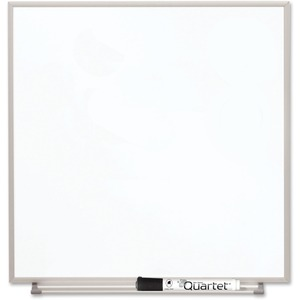 Acco Brands Corporation Quartet Matrix® Magnetic Modular Whiteboard, 16 X 16, Silver Aluminum Frame - 16 Height X 16 Width - White Natural Cork Surface - Silver Aluminum Frame - 1 Each