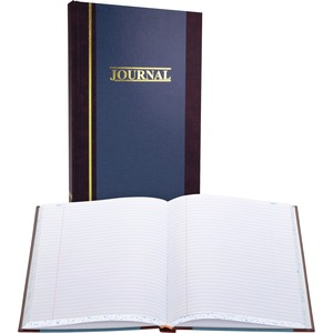 "Wilson Jones S300 Record Book - 300 Sheet(s) - 11.75"" x 7.25"" Sheet Size - White - 1Each"