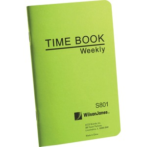 Wilson Jones Foreman's Pocket Size Time Book WLJS801