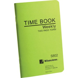Wilson Jones Foreman's Pocket Size Time Books WLJS802