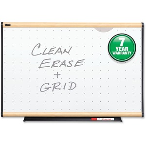 Quartet Total Erase Board - 4' x 3' - Maple Frame