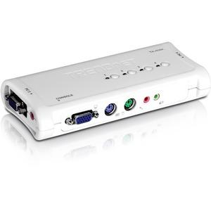 TRENDNET - BUSINESS 4PORT PS2 KVM SWITCH KIT W/AUDIO (INCLUDE 4 X KVM CABLES)