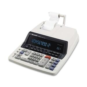 "Sharp QS2770H Printing Calculator - 12 Character(s) - Fluorescent - AC Supply Powered - 9.88"" x 12.5"" x 3"""
