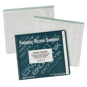 "Ekonomik Business Treasurer Form - Wire Bound - 8.75"" x 10"" Sheet Size - White - 1Each"
