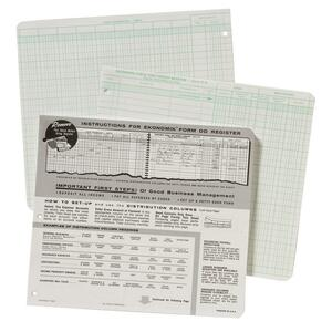 "Ekonomik Check Register Book - 8.75"" x 10"" Sheet Size - White - 1Each"