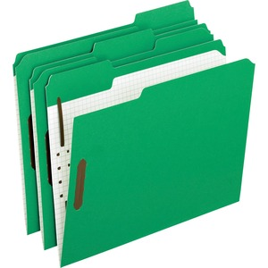 "Esselte Pendaflex Fastener Folder - Letter - 8.5"" x 11"" - 1/3 Tab Cut - 2"" Expansion - 2 Fastener - 1"" Capacity - 50 / Box - Green"