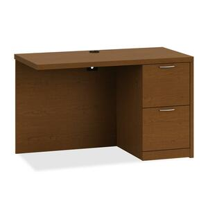 "HON Valido 11500 Series Right Return - 48"" Width x 24"" Depth x 29.5"" Height - 2 Drawer - Ribbon Edge - Particleboard, Wood - Cherry Top"