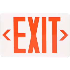 "TATCO LED Exit Sign with Battery Back-Up - ""Exit"" Preprinted - Polycarbonate - White"