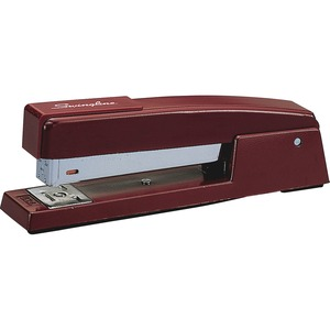 Swingline 747 Classic Stapler - Desktop Stapler - 20 Sheets Capacity - 210 Staple Capacity - 1/4&quot; Staple Size - Burgundy