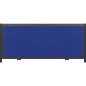 "Quartet Show It! Header Panel Showboard Display - 24"" x 10"" - Fabric Surface - Blue"