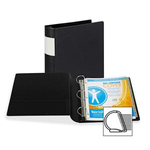 "Samsill Angle-D Ring Binder - Letter - 8.5"" x 11"" - 375 Sheet x 2"" Capacity - 1 Each - Black"