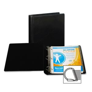 "Samsill DXL Locking D-Ring Binder - Letter - 8.5"" x 11"" - 1.5"" Capacity - 1 Each - Black"