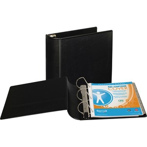 "Samsill DXL Locking D-Ring Binder - Letter - 8.5"" x 11"" - 480 Sheet x 3"" Capacity - 1 Each - Black"