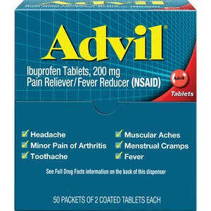 Acme United Advil Pain Reliever Refills - Headache, Muscular Pain, Backache, Arthritis - 50 / Box