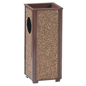 "United Receptacle Sand Urn Litter Receptacles - 9.46L Capacity - 6"" Opening Diameter - 24"" Height x 10"" Width x 10"" Depth - Steel - Brown"