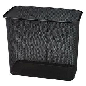 United Receptacle Steel Mesh Rectangle Wastebasket RCPWMB30RBK