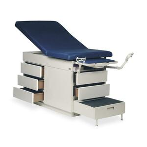 "Hausmann XL Power Back Exam Table - 5 Drawer - 33"" x 30"" x 9"" - Slate Blue"