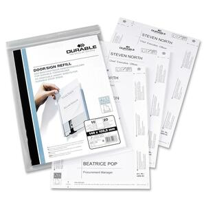 Durable Replacement Paper Insert - 50 Insert - White