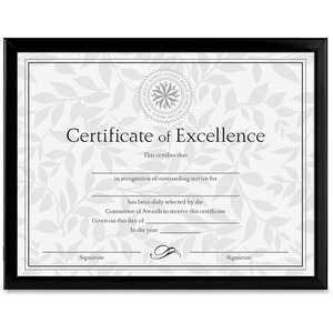 "Burnes Document Frame - 11"" x 8.5"" Frame - 11"" x 8.5"" Insert - Desktop, Wall-mountable - Vertical, Horizontal - Black"