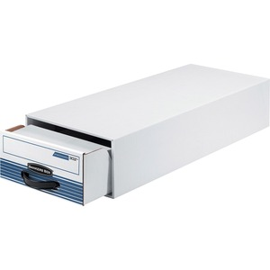 "Bankers Box Steel Plus Storage Drawer - Internal Dimension 4.38"" Height x 9.25"" Width x 23.5"" Depth x - External Dimensions 5.25"" Height x 10.5"" Width x 25.5"" Depth - Steel, Plastic - White"