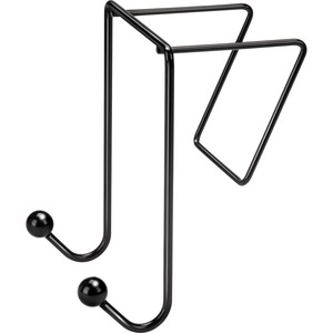 Fellowes Partition Additions Coat Hook - 2 Hook - Plastic - Black