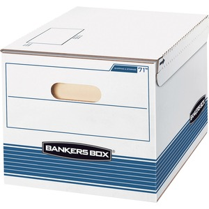 "Bankers Box Letter/Legal Storage Box - Letter, Legal - Internal Dimension 10"" Height x 15"" Width x 12"" Depth x - External Dimensions 10.25"" Height x 16"" Width x 12.37"" Depth - White, Blue"